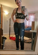 Closet Candy Boutique KAN CAN Retro Exposed Button Jeans - Double Dark Wash Review