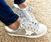 Closet Candy Boutique You're A Rockstar Sneakers - Silver Review