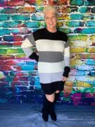 Closet Candy Boutique CBRAND Self Made Color Block Sweater Dress - Black Review