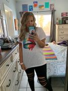 Closet Candy Boutique Taste The Rainbow Graphic Tee - White Review