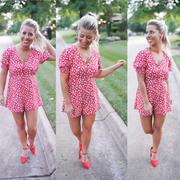 Closet Candy Boutique LUSH Country Club Romper - Red Review