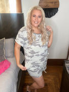 Closet Candy Boutique Sweet Dreams Camo Loungewear - Grey Review