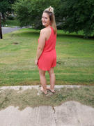 Closet Candy Boutique LUSH Still Be Here Romper - Poppy Red Review