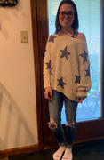 Closet Candy Boutique Wishes Fulfilled Star Sweater - Dusty Blue Review
