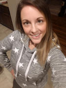 Closet Candy Boutique Make Yourself At Home Star Hoodie - Marled Dusty Blue Review
