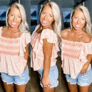 Closet Candy Boutique Under The Boardwalk Smocked Top - Blush Review