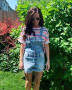 Closet Candy Boutique Miranda Denim Overall Shorts - Light Wash Review