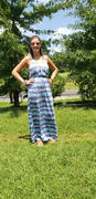 Closet Candy Boutique Beach Waves Tie Dye Maxi Dress - Blue Review
