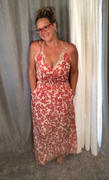 Closet Candy Boutique Celebrate The Season Maxi Dress - Coral Red Review