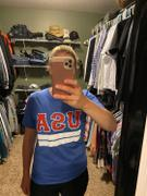 Closet Candy Boutique USA Varsity Graphic Tee - Blue Review