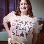 Closet Candy Boutique Wake Pray Slay Graphic Tee - Blush Review