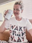 Closet Candy Boutique Wake Pray Slay Graphic Tee - White Review
