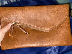 Closet Candy Boutique Jessica Vegan Leather Clutch - Tan Review