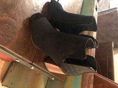 Closet Candy Boutique Step On Out Peep Toe Booties - Black Review