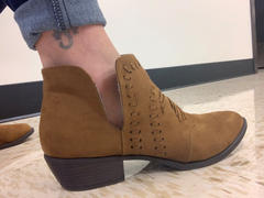 Closet Candy Boutique Split Decision Booties - Chestnut Review