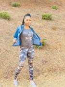 Closet Candy Boutique Be Different Camo Leggings - Blue & Grey Review
