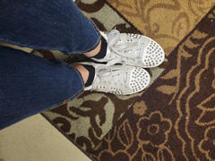 Closet Candy Boutique Jump Back In Studded Sneakers - White Review
