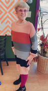 Closet Candy Boutique CBRAND Self Made Color Block Sweater Dress - Rose Review