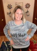 Closet Candy Boutique Dog Mom Long Sleeve Graphic Tee - Blue Camo Review