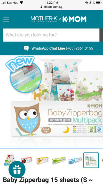 k-mom singapore Baby Zipperbag 15 sheets (S ~ Multipack Size) Review