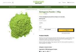 Superfood Outlet Barleygrass Powder | 25kg Review