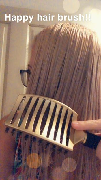 Happy Hair Brush Gold Review