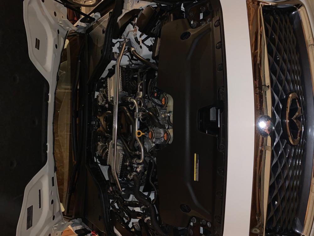 MEGAN RACE SPEC FRONT UPPER STRUT TOWER BAR FOR 15-UP INFINITI Q50 V37 VQ37HR