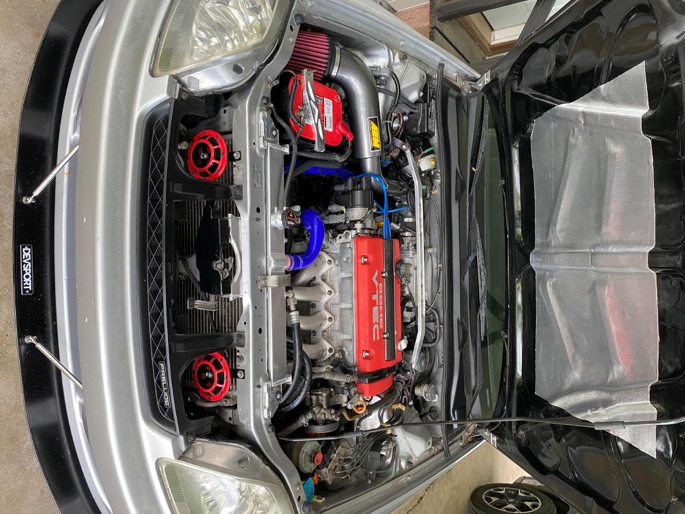 Yonaka 1992-1996 Honda Prelude Dual Core Lightweight Performance Aluminum Radiator w//Fans /& Shroud Kit
