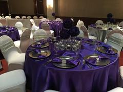 tableclothsfactory.com 108 Purple Satin Round Tablecloth Review