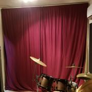 tableclothsfactory.com Pack of 2 | 5FTx10FT Burgundy Fire Retardant Polyester Curtain Panel Backdrops With Rod Pockets Review