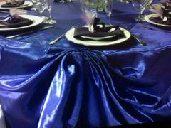 tableclothsfactory.com 120 Purple Satin Round Tablecloth Review