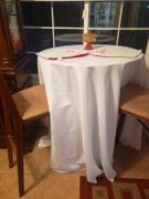 tableclothsfactory.com 120 White Polyester Round Tablecloth Review