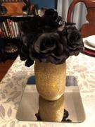 tableclothsfactory.com 4 Pack 56 Pcs Black Artificial Velvet Rose Flowers Review
