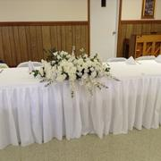 tableclothsfactory.com 17FT White Pleated Polyester Table Skirt Review