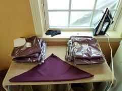 tableclothsfactory.com 5 Pack 17x17 Eggplant Polyester Linen Napkins Review