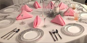 tableclothsfactory.com 5 Pack 17x17 Pink Polyester Linen Napkins Review