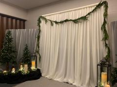 tableclothsfactory.com 20ftx10ft Ivory Double Layer Polyester Chiffon Backdrop With Rod Pockets Review