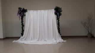 tableclothsfactory.com 20FT x 10FT | White Double Layer Polyester Chiffon Backdrop With Rod Pockets Review