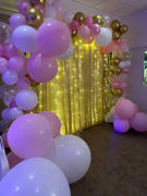 tableclothsfactory.com 20FT Premium Champagne Sequin Backdrop Double Layered With Chiffon CurtainFor Party Event Wedding Decoration Review