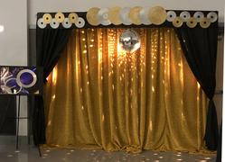 tableclothsfactory.com 20FT x 10FT Gold Metallic Shiny Spandex Glittering Backdrop Review