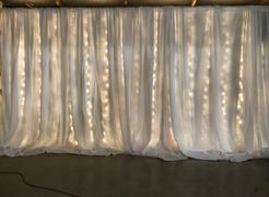 tableclothsfactory.com 20ft x 8ft White Dual Layer Chiffon Polyester Backdrop Curtain Review