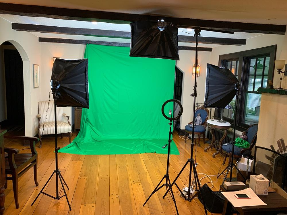 Tableclothsfactory 2400 Watt Softbox Photo Studio Continuous Lighting Kit with Boom Arm Hairlight Softbox