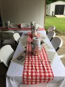 tableclothsfactory.com Buffalo Plaid Tablecloth | 54x54 Square | White/Red | Checkered Gingham Polyester Tablecloth Review