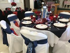 tableclothsfactory.com 5 PCS | NAVY BLUE Polyester Chair Sashes Review