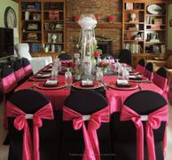 tableclothsfactory.com 5 PCS | 6x108 Fushia Taffeta Crinkle Chair Sashes Review