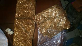 tableclothsfactory.com 5 pack | 6x15 Gold Sequin Spandex Chair Sash Review