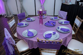 tableclothsfactory.com 5 pack | 6x15 Purple Sequin Spandex Chair Sash Review