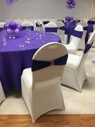 tableclothsfactory.com 5 pack | 5x12 Purple Spandex Stretch Chair Sash Review