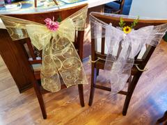 tableclothsfactory.com 5 PCS | 7x108 Yellow Embroidered Chair Sashes Review