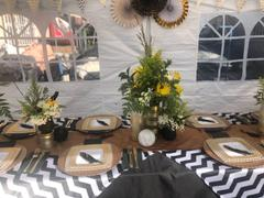 tableclothsfactory.com 72 x 72 White/Black Jazzed Up Chevron Overlay Review